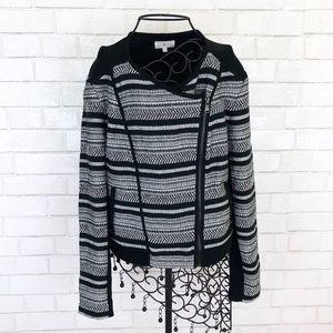 Lou & Grey Sweater Moto Jacket NWOT